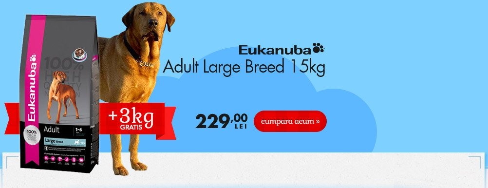 Eukanuba Adult Large Breed + 3 kg Gratuit